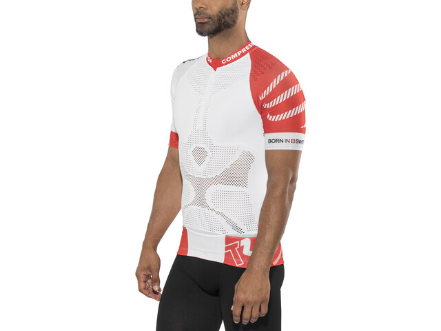 Compressport Trail Running V2 Blouse korte mouwen Heren, white